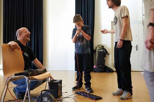 BeatBox Loop Workshop am woerdz Festival