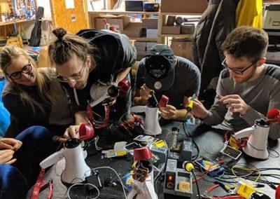 06.11.17 CircuitBending MegaphoneHack - Hackspace LABOR Luzern